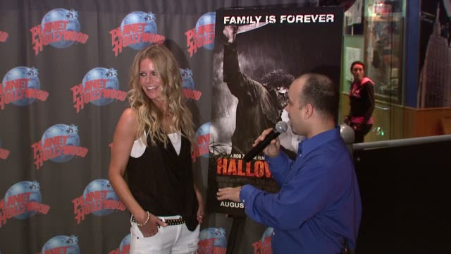Sheri Moon Zombie at the Rob Zombie Sheri Moon Zombie Donate Memorabilia at Planet Hollywood at New York NY