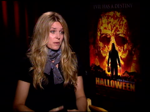 sheri moon zombie discusses her husband's directing and the character of young michael myers at the 'halloween' press junket at the four seasons... - directing stock videos & royalty-free footage