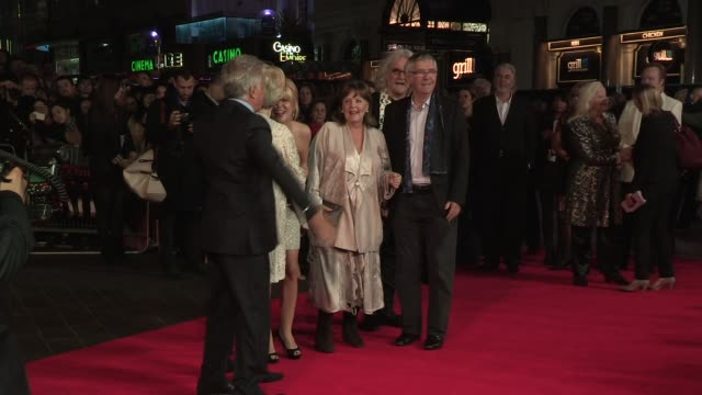 sheridan smith billy connolly maggie smith pauline collins tom courtenay dustin hoffman dame gwyneth jones at quartet premiere 56th bfi london film... - tom courtenay stock videos & royalty-free footage