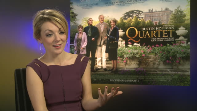 sheridan smith on being grateful on where she's at at 'quartet' interviews at soho hotel on december 11 2012 in london england - sheridan smith stock videos & royalty-free footage