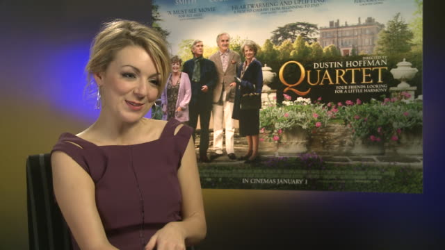 sheridan smith on what she's doing for christmas at 'quartet' interviews at soho hotel on december 11 2012 in london england - sheridan smith stock videos & royalty-free footage