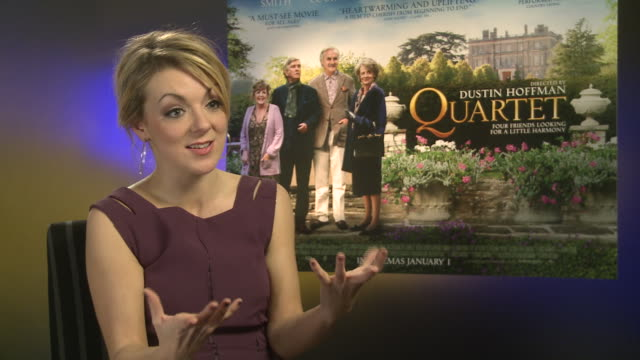 sheridan smith on working with dustin hoffman his appraoch to the story at 'quartet' interviews at soho hotel on december 11 2012 in london england - sheridan smith stock videos & royalty-free footage