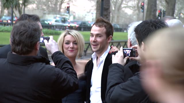 sheridan smith paul keating at the the laurence olivier awards at the grosvenor house in london on march 9 2008 - sheridan smith stock videos & royalty-free footage