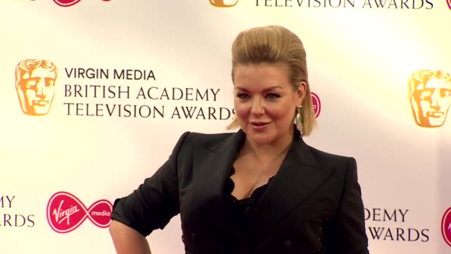 sheridan smith poses for photos on red carpet at bafta tv awards 2019 at royal festival hall london - sheridan smith stock videos & royalty-free footage