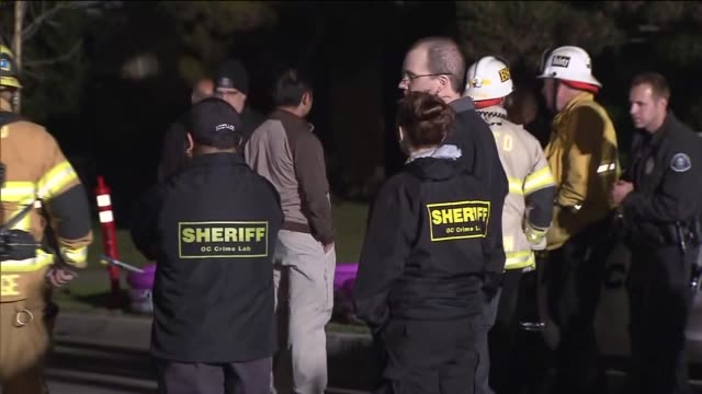 sheriff crime lab at explosion scene on april 15, 2013 in costa mesa, california - costa mesa stock videos & royalty-free footage