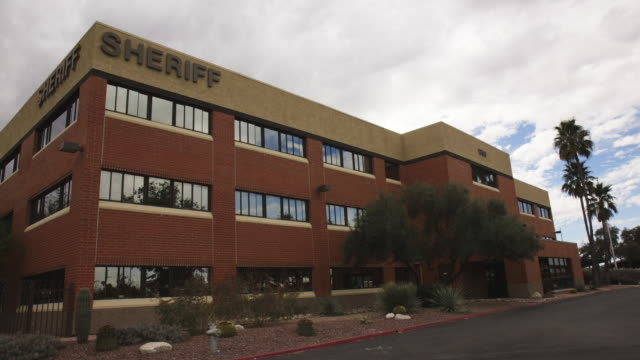sheriff department building exterior - brick stock videos & royalty-free footage