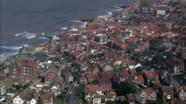 sheringham  - aerial view - england, norfolk, north norfolk district, united kingdom - norfolk england stock videos and b-roll footage