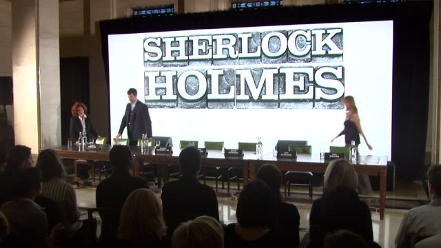 sherlock holmes presser london uk 10/01/08 - sherlock holmes stock videos & royalty-free footage