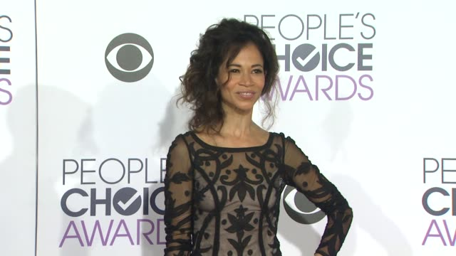 Sherri Saum at the People's Choice Awards 2016 at Nokia Plaza LA LIVE on January 6 2016 in Los Angeles California