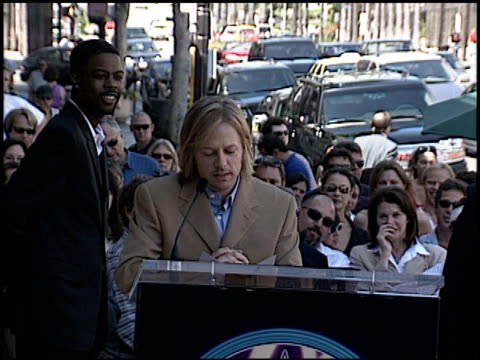 Sherry Lansing at the Dediction of David Spade's Walk of Fame Star at the Hollywood Walk of Fame in Hollywood California on September 5 2003