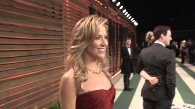 sheryl crow at the 2014 vanity fair oscar party hosted by graydon carter arrivals on march 02 2014 in west hollywood california - sheryl crow stock videos & royalty-free footage