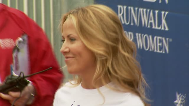 sheryl crow at the revlon run/walk for women celebration of 14 years in los angeles at the los angeles memorial coliseum in los angeles california on... - sheryl crow stock videos and b-roll footage