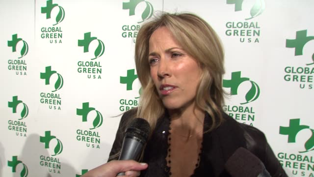 sheryl crow on tonight's event on what she does to be green on what others can do to be green and on how other's can help global green usa at the... - pre party stock videos and b-roll footage