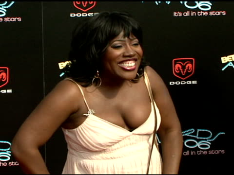 sheryl underwood at the 2006 bet awards arrivals at the shrine auditorium in los angeles california on june 27 2006 - black entertainment television stock videos & royalty-free footage