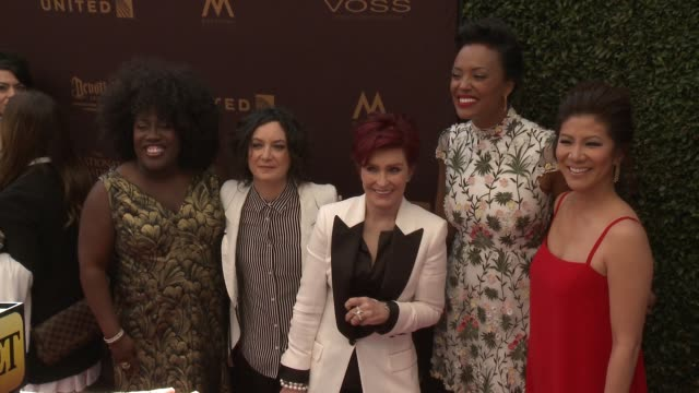 Sheryl Underwood Sara Gilbert Sharon Osbourne Aisha Tyler and Julie Chen at 43rd Annual Daytime Emmy Awards at Westin Bonaventure Hotel on May 01...