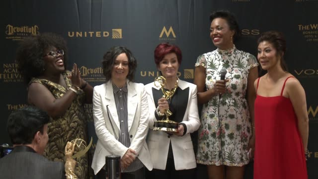 SPEECH Sheryl Underwood Sara Gilbert Sharon Osbourne Aisha Tyler and Julie Chen at 43rd Annual Daytime Emmy Awards at Westin Bonaventure Hotel on May...