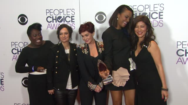 Sheryl Underwood Sara Gilbert Sharon Osbourne Aisha Tyler Julie Chen at People's Choice Awards 2016 at Nokia Plaza LA LIVE on January 06 2016 in Los...