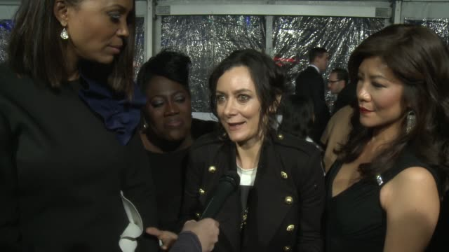 INTERVIEW Sheryl Underwood Sara Gilbert Sharon Osbourne Julie Chen Aisha Tyler on the event at People's Choice Awards 2016 at Nokia Plaza LA LIVE on...