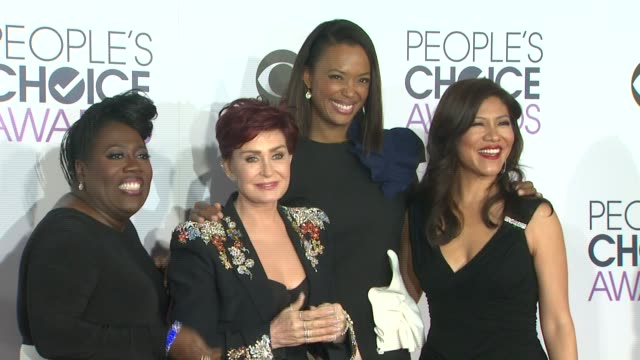 Sheryl Underwood Sharon Osbourne Aisha Tyler and Julie Chen at the People's Choice Awards 2016 at Nokia Plaza LA LIVE on January 6 2016 in Los...