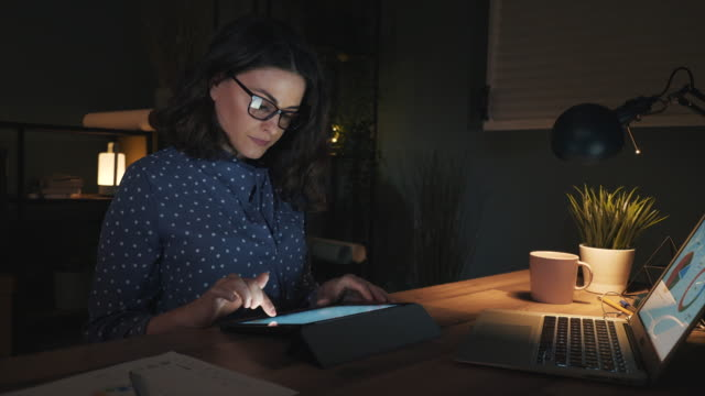 she's a night owl. - reading glasses stock videos & royalty-free footage