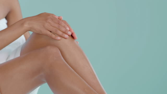 she's got the softest legs - skin care stock videos & royalty-free footage