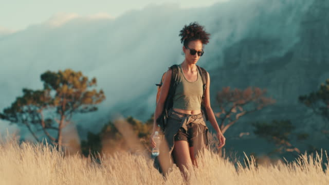 she's truly living the adventure - sunglasses stock videos & royalty-free footage