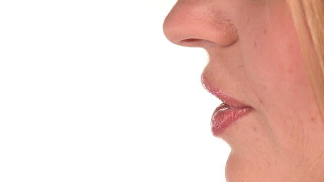 hd: shh - lips stock videos & royalty-free footage