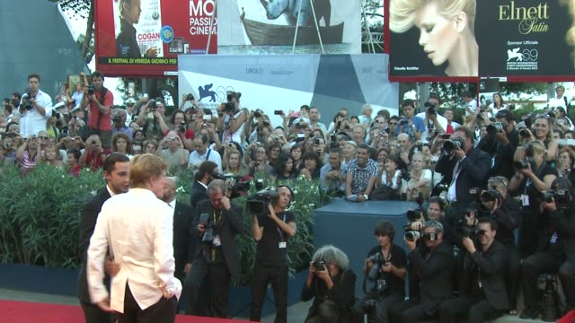shia labeouf and robert redford at 'the company you keep' premiere: 69th venice film festival in venice, italy, on 09/06/12 - ロバート・レッドフォード点の映像素材/bロール