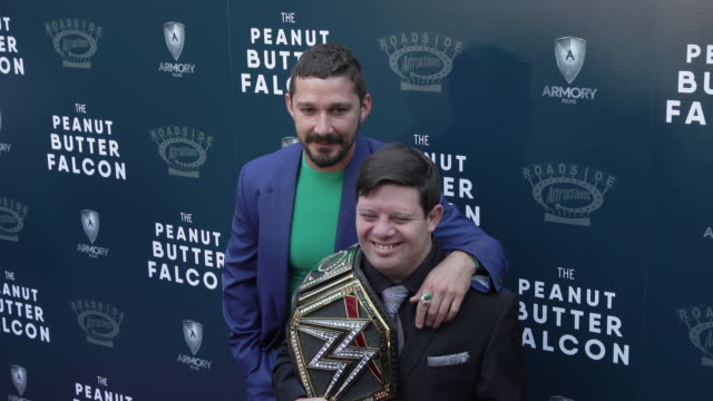 """shia labeouf and zack gottsagen at the special screening of """"the peanut butter falcon"""" at arclight hollywood on august 01, 2019 in hollywood,... - shia labeouf stock videos & royalty-free footage"""