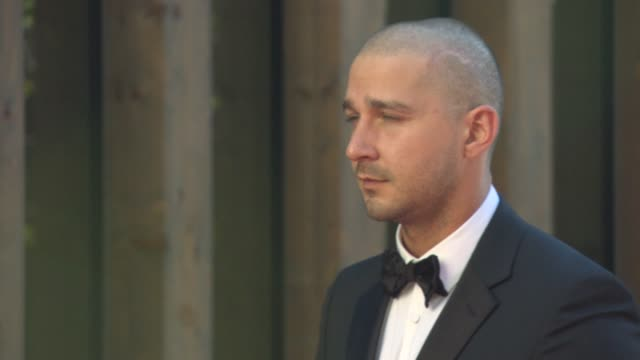 shia labeouf, at 'man down' red carpet - 72nd venice film festival at palazzo del cinema on september 06, 2015 in venice, italy. - shia labeouf stock videos & royalty-free footage