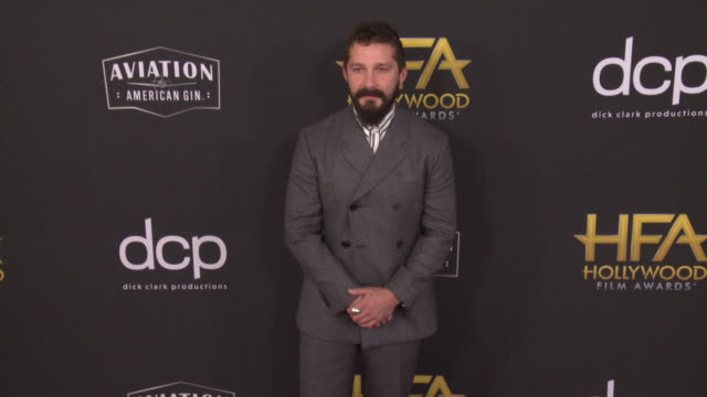 shia labeouf at the 23rd annual hollywood film awards at the beverly hilton hotel on november 03, 2019 in beverly hills, california. - shia labeouf stock videos & royalty-free footage