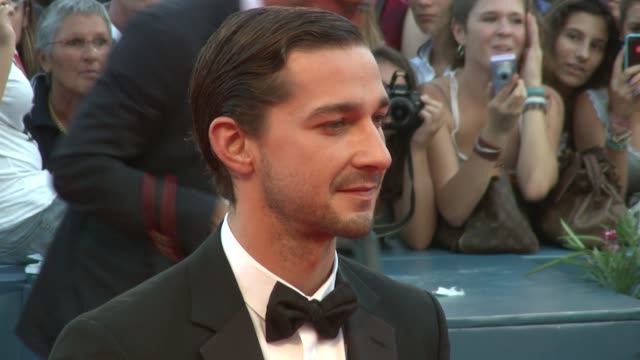 shia labeouf at 'the company you keep' premiere: 69th venice film festival in venice, italy, on 09/06/12 - shia labeouf stock videos & royalty-free footage