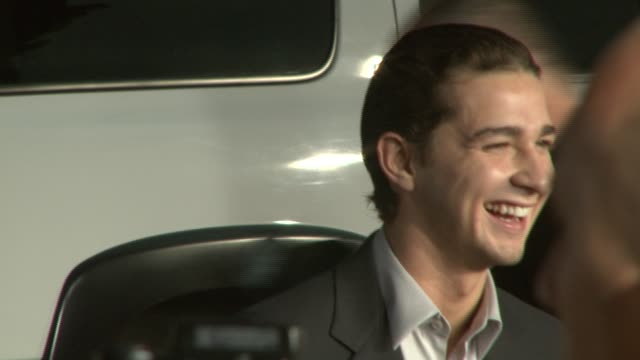 shia labeouf at the 'disturbia' premiere at grauman's chinese theatre in hollywood, california on april 4, 2007. - shia labeouf stock videos & royalty-free footage