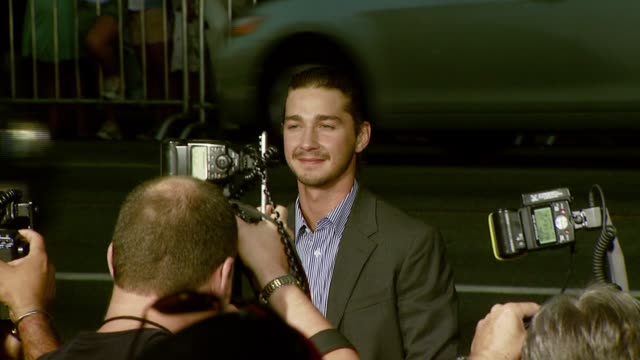 shia labeouf at the 'hot rod' los angeles premiere at grauman's chinese theatre in hollywood, california on july 26, 2007. - shia labeouf stock videos & royalty-free footage