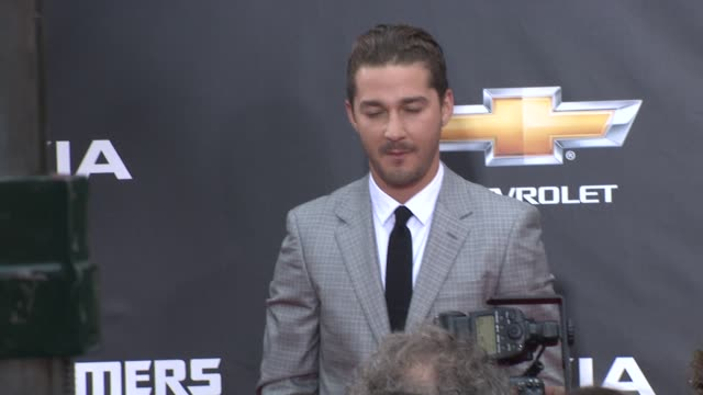 shia labeouf at the 'transformers: dark side of the moon' new york premiere at new york ny. - shia labeouf stock videos & royalty-free footage