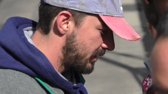 shia labeouf greets fans outside jimmy kimmel live at el capitan theater in hollywood in celebrity sightings in los angeles, - shia labeouf stock videos & royalty-free footage