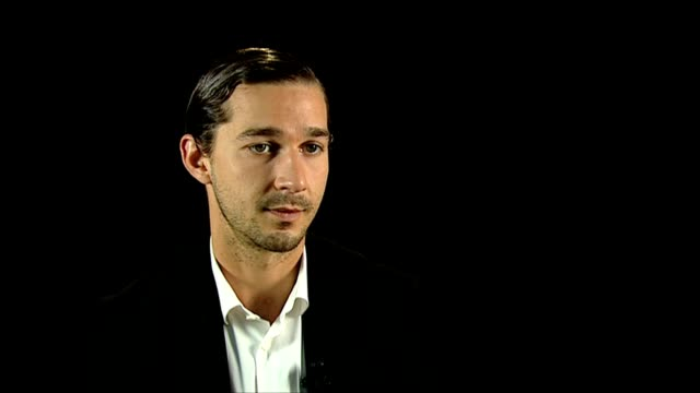 shia labeouf on his career, being grateful making movies at the company you keep interviews: 69th venice films festival on september 06, 2012 in... - shia labeouf stock videos & royalty-free footage