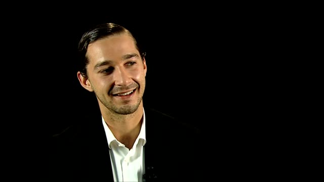 shia labeouf on how the role changed his attitude, crime journalism, his research at the company you keep interviews: 69th venice films festival on... - shia labeouf stock videos & royalty-free footage