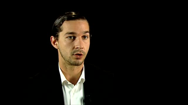 shia labeouf on hunting for news, the moral dilemma at the company you keep interviews: 69th venice films festival on september 06, 2012 in venice,... - shia labeouf stock videos & royalty-free footage