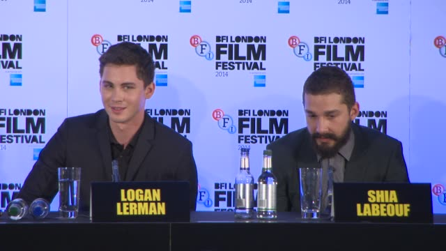 shia labeouf on the filming experience at 'fury' press conference at corinthia hotel london on october 19, 2014 in london, england. - shia labeouf stock videos & royalty-free footage