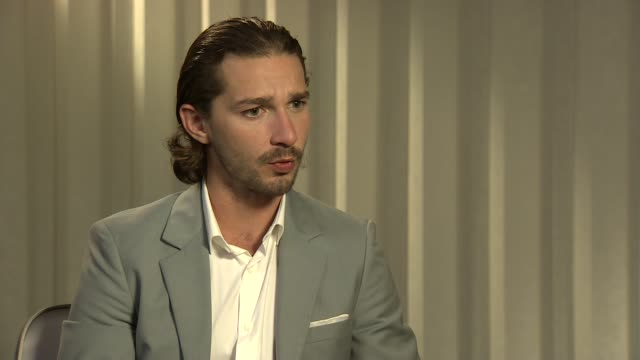 shia labeouf on the people he's worked with, the films he's been in, on his success at lawless interviews: 65th cannes film festival on may 20, 2012... - shia labeouf stock videos & royalty-free footage