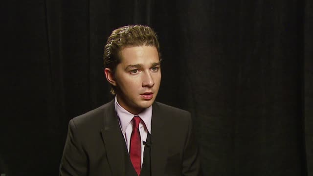 shia labeouf, winner male star of tomorrow at the 2007 showest at the paris hotel in las vegas, nevada on march 14, 2007. - paris las vegas stock videos & royalty-free footage