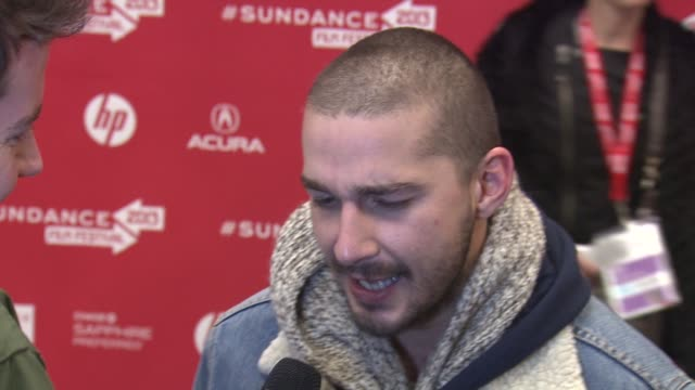 shia lebouf at the 'the necessary death of charlie countryman' premiere, park city, ut. 01/21/13. shia lebouf at the 'the necessary death of charlie... - shia labeouf stock videos & royalty-free footage