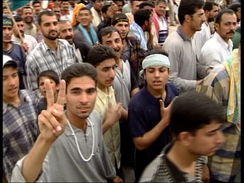 shia muslims pilgrimage to kerbala also available - shi'ite islam stock videos & royalty-free footage