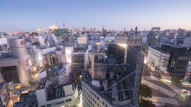 夜明けの時間経過で渋谷や新宿のスカイライン - 夜明け点の映像素材/bロール