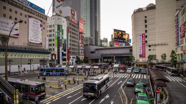 Shibuya Bus Station - Panning Timelapse