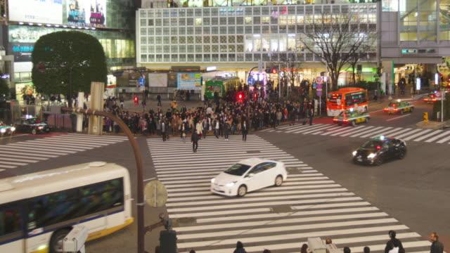 WS TL Shibuya Crossing at night, Japan