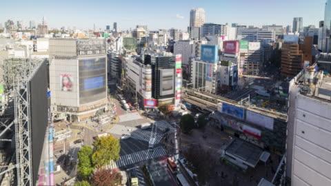 shibuya crossing in daytime - time lapse - shibuya crossing stock videos & royalty-free footage