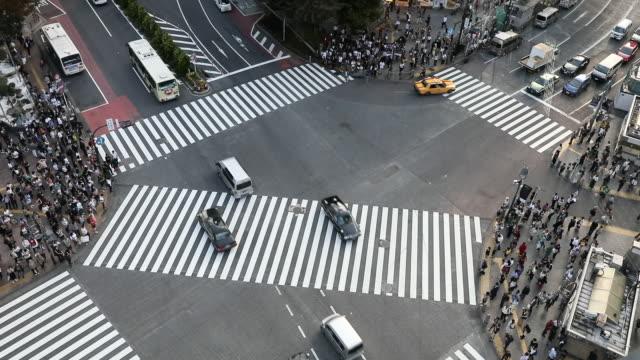 Shibuya Kreuzung in der Innenstadt von Tokio