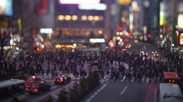 Shibuya Crossing in the Evening (tilt-shift)